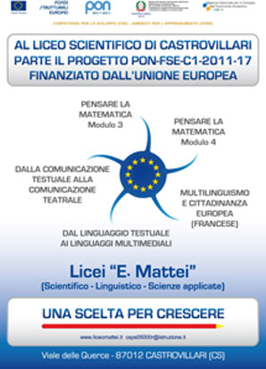 liceo scientifico castrovillari -progetto pon